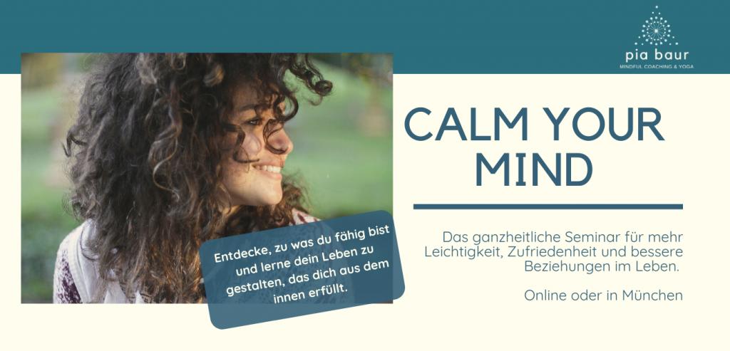 Du wünschst dir eine ganzheitliche Stressmanagement Routine, wieder konzentriert und fokussiert deinen Tag zu gestalten und gelassen mit deinen Gedanken und Gefühlen umgehen? Dann sei 2020 dabei, beim einzigartigen und ganzheitlichen Calm your Monkey Mind Seminar. Schreibe dich jetzt schon auf die Infoliste und werde informiert, sobald Details feststehen. Pia Baur Expertin für emotionale Intelligenz, Mindfulness, Achtsamkeit, Stressmanagement, Entspannung, Meditation, Fokus, Gelassenheit, Empathie.